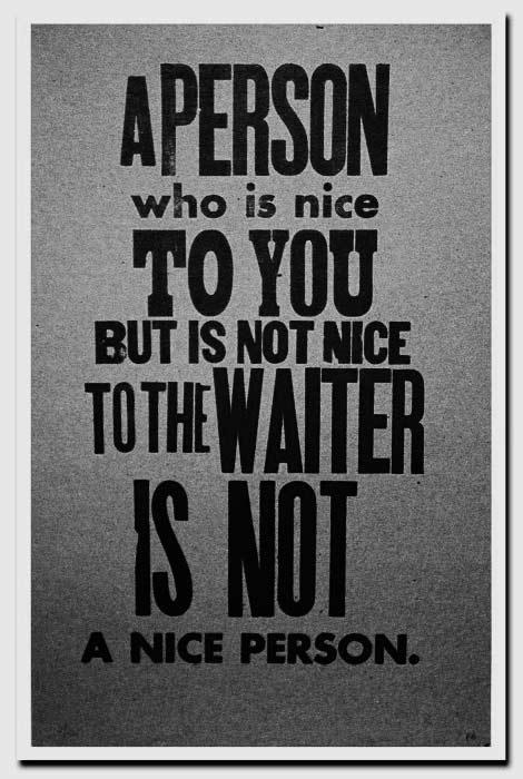 Restaurant etiquette – be nice to yourwaiters!